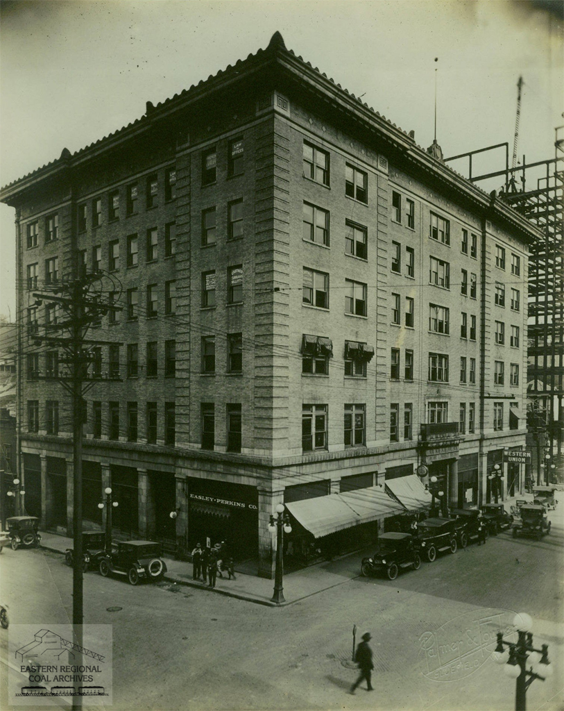 Law and Commerce Building (circa 1922). -From the collections of the Eastern Regional Coal Archives